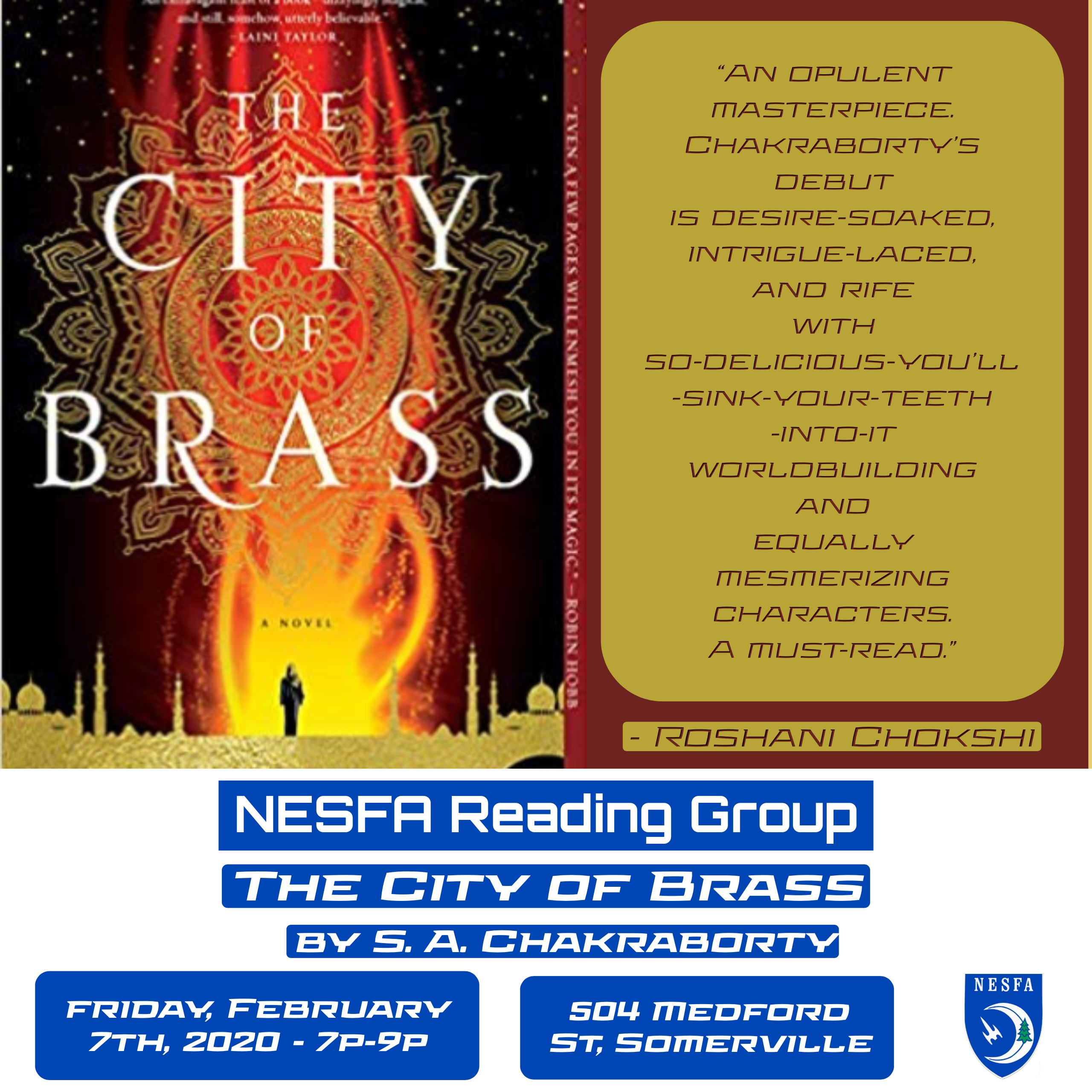 The City of Brass by S. A. Chakraborty – February Book Discussion